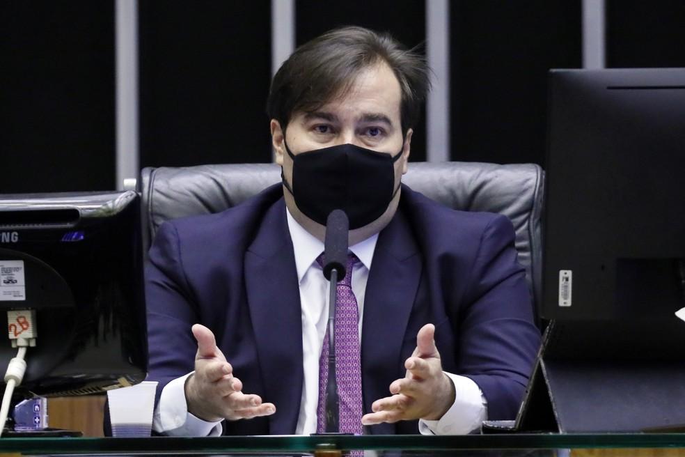 Rodrigo Maia durante sessão no plenário da Câmara — Foto: Maryanna Oliveira/Câmara dos Deputados