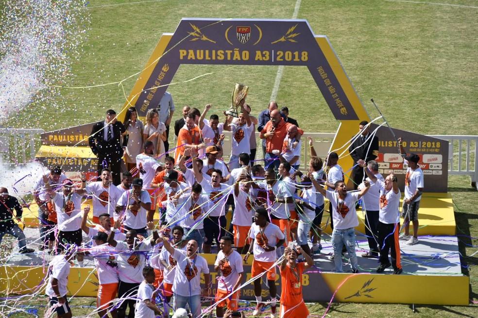 69ea2fefe4 ... Atibaia foi campeão da Série A3 neste ano e mira acesso na A2 — Foto