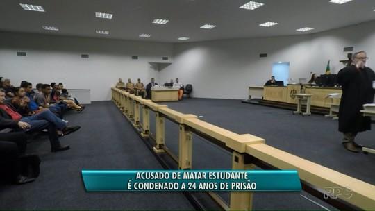 Homem é condenado a 24 anos de prisão por morte de estudante em Foz do Iguaçu