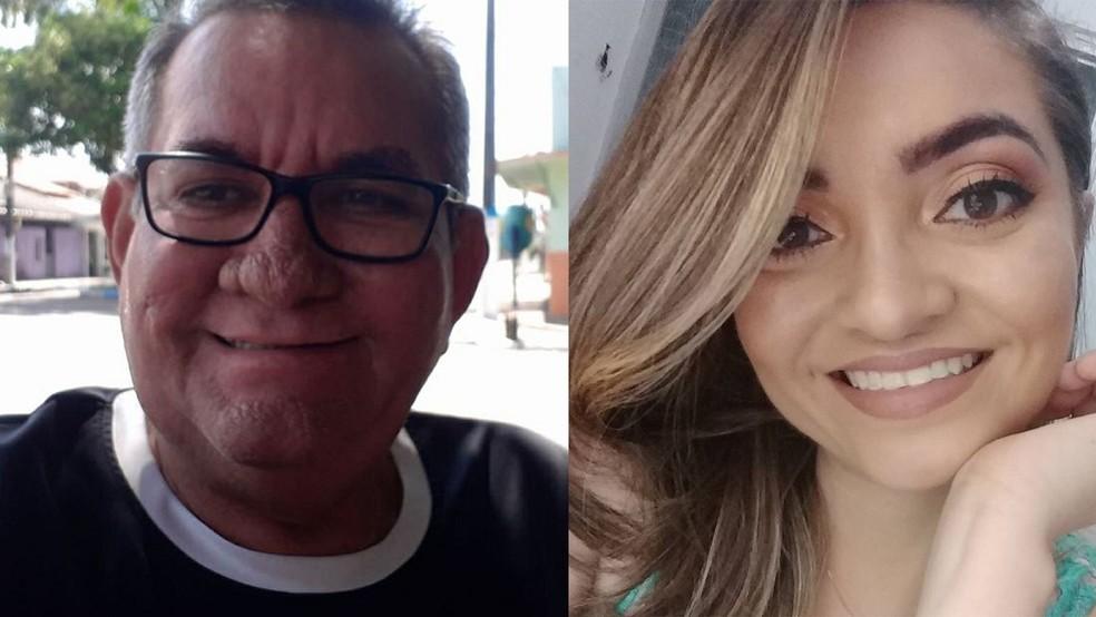 Luiz Carlos de Carvalho Barra e a filha dele, a médica Paula Eloá Carneiro Barra  — Foto: Reprodução/Redes Sociais