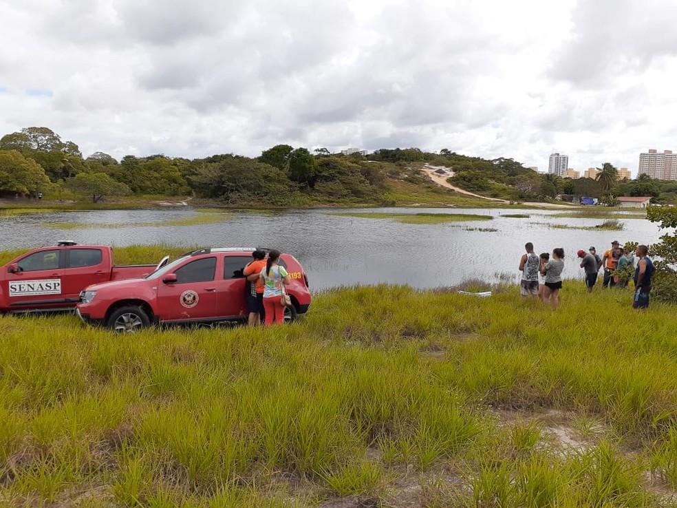 Alisson Ìtalo do Nascimento, de 18 anos, morreu afogado em uma lagoa no bairro de Ponta Negra. — Foto: Julianne Barreto/Inter TV Cabugi