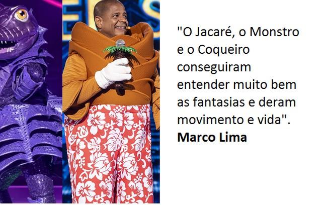 Marco Lima diz que suas preferidas também são Coqueiro e Jacaré (Foto: Globo)