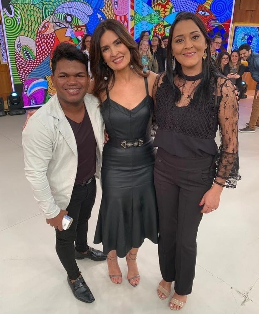 Iara Pamella participou do Encontro com Fátima Bernardes em julho de 2019. — Foto: Arquivo pessoal