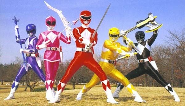 Os Power Rangers da série de televisão (Foto: Reprodução)