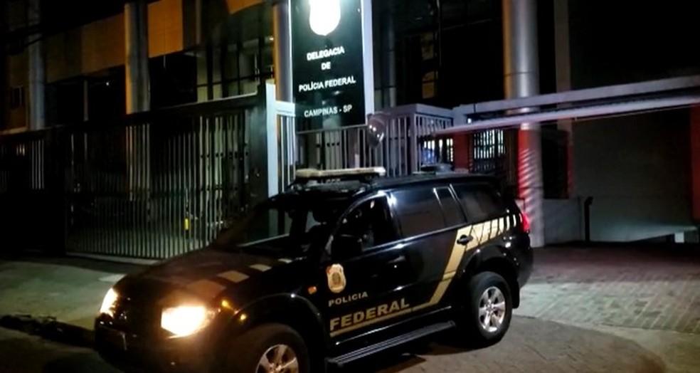 Polícia Federal cumpriu mandados no início da manhã desta quarta — Foto: Divulgação/Polícia Federal