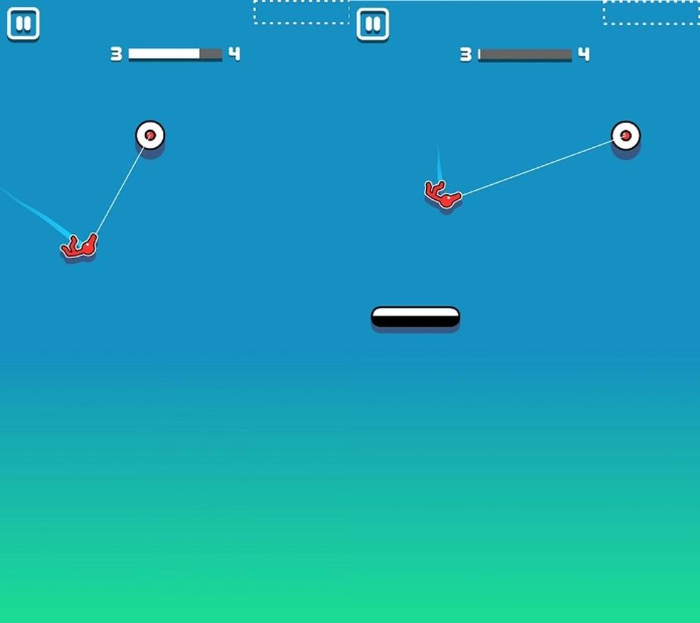 Stickman Hook - Use as leis da física e os elementos ao seu favor — Foto: Reprodução/Marcell Santos