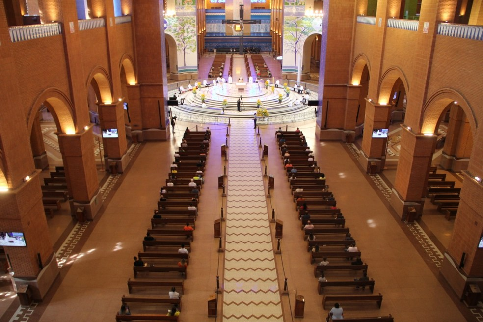 Missa de Páscoa na Basílica de Aparecida — Foto: Matheus Andrade/Santuário Nacional