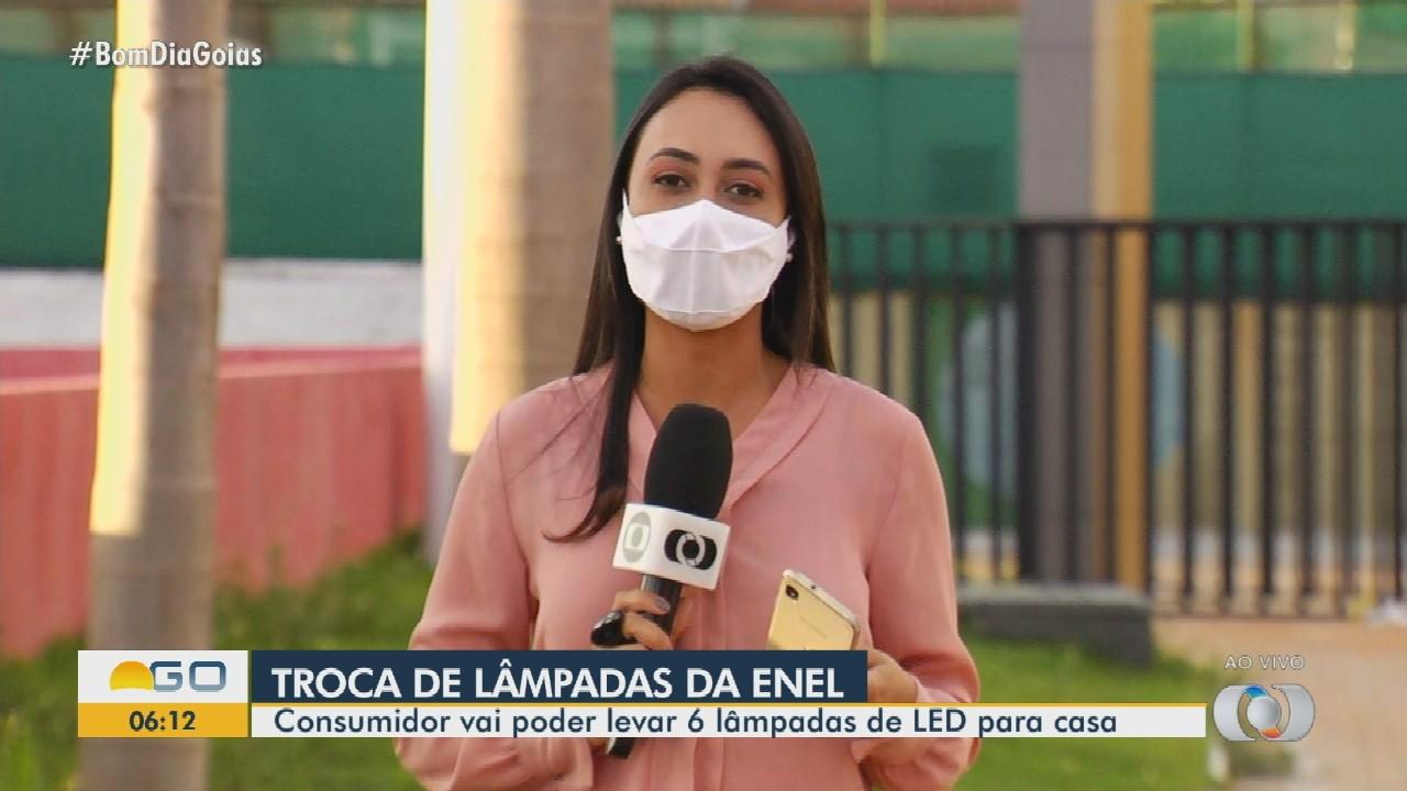 Enel oferece troca de lâmpadas ao consumidor de Goiânia
