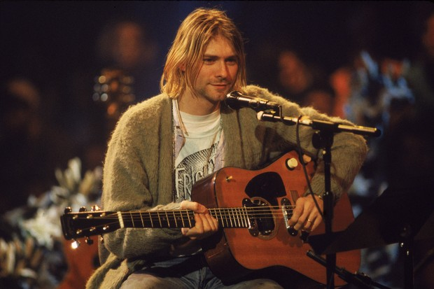 Kurt Cobain na gravação do clássico MTV Unplugged (Foto: Getty Images)