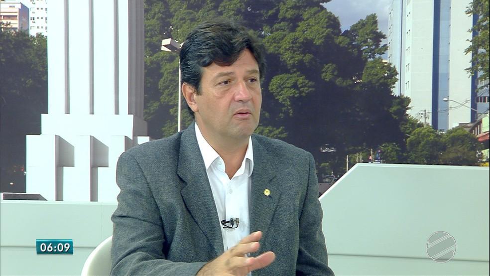 Futuro ministro da Saúde do governo Bolsonaro, Luiz Henrique Mandetta (DEM-MS) — Foto: Reprodução/TV Morena