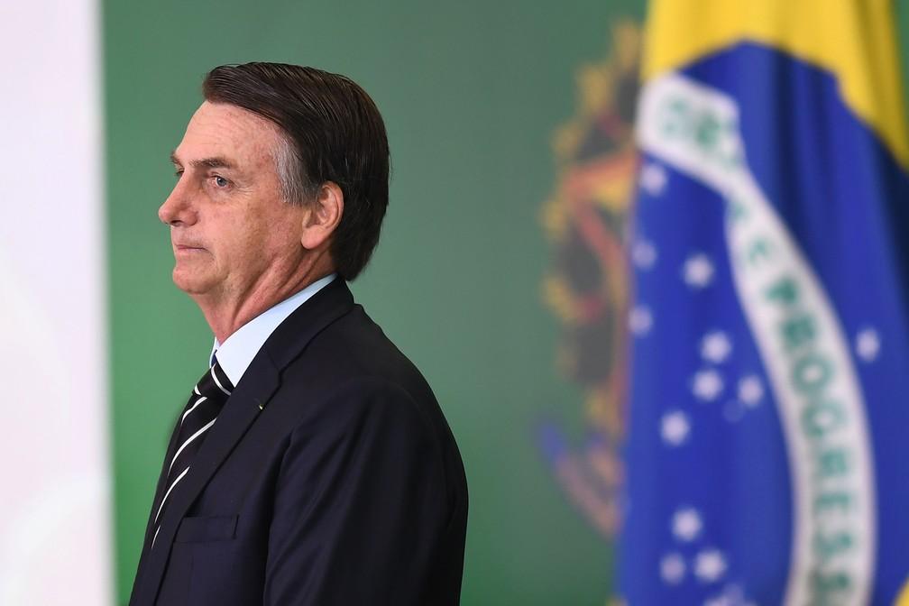 O presidente da República, Jair Bolsonaro — Foto: Evaristo Sá/AFP