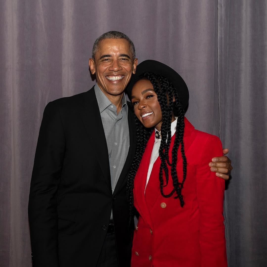 Janelle Monae e Barack Obama (Foto: reprodução/ Instagram)