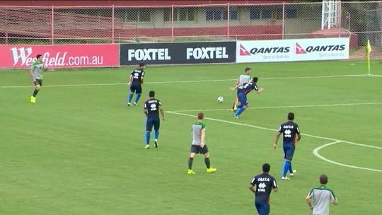 Seleção da Austrália faz jogo treino contra o Paraná
