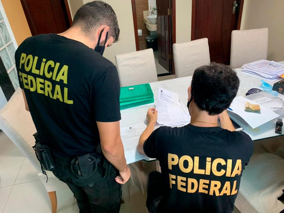Polícia Federal cumpre mandados em investigação por fraudes com verbas da pandemia em São Luís — Foto: Divulgação/Polícia Federal
