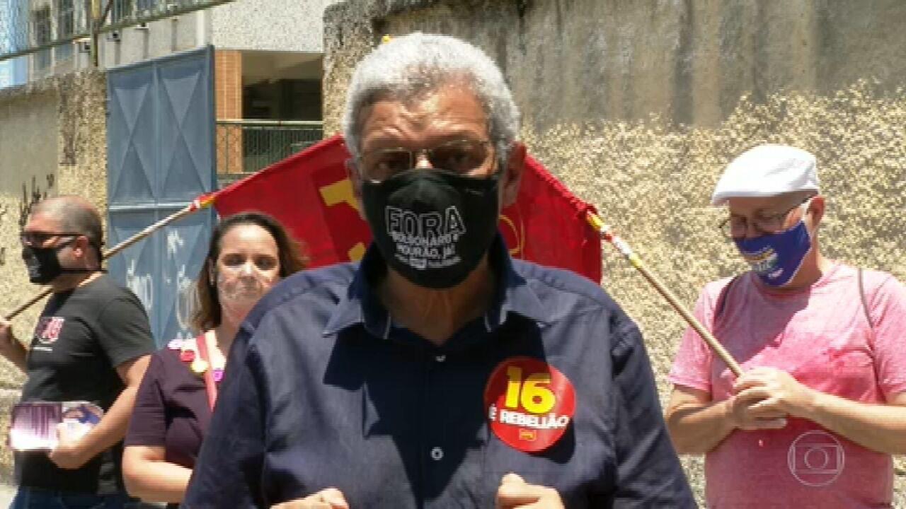 Cyro Garcia (PSTU) faz campanha em Olaria