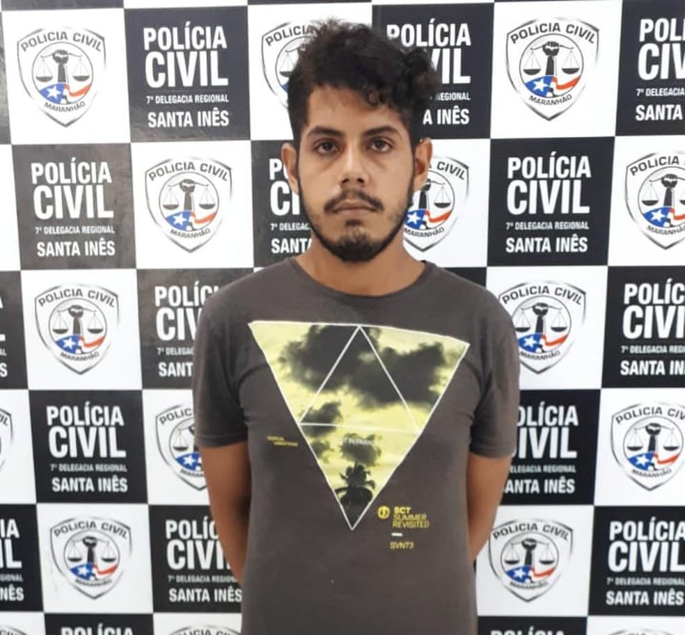 André Lucas foi preso em Santa Inês, a 250 km de São Luís.  — Foto: Divulgação/Polícia Civil
