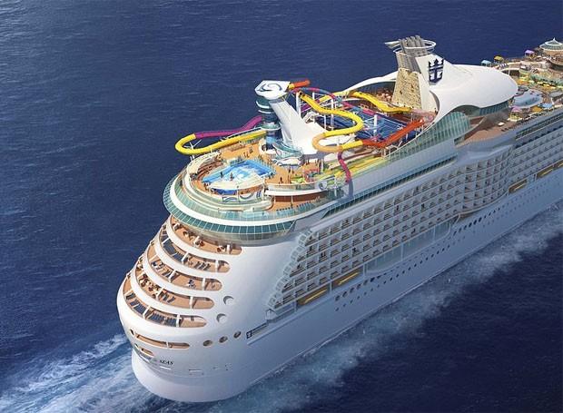 Projeto do Navigator of The Seas após reforma milionária (Foto: Divulgação/Royal Caribbean)
