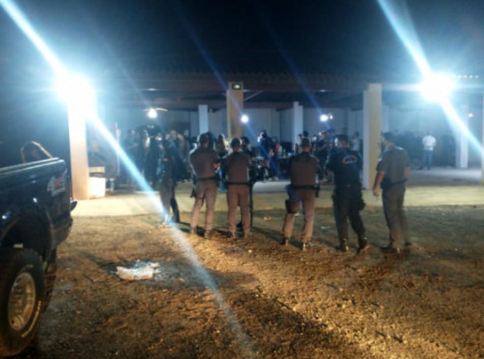 Equipes flagraram duas festas em chácaras em Conchal — Foto: Secretaria de Segurança Pública de Conchal