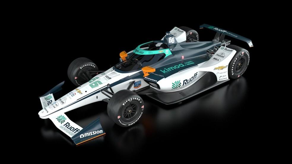 Carro da Arrow McLaren SP com que Alonso vai disputar as 500 Milhas em agosto — Foto: Divulgação