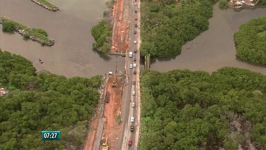Duplicação da Ponte do Janga atrasa e prolonga transtornos a moradores e motoristas no Grande Recife