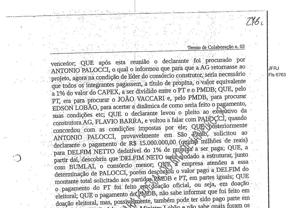 Moro determina bloqueio de R$ 4,4 milhões do ex-ministro Delfim Netto Trecho