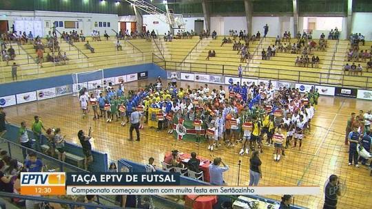 Taça EPTV de Futsal começa com muita festa em Sertãozinho; veja