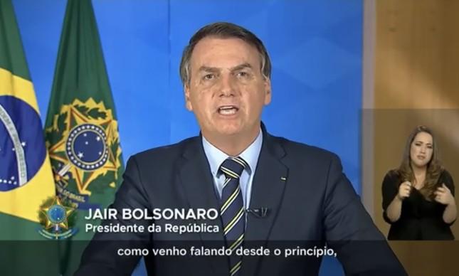 Jair Bolsonaro faz terceiro pronunciamento na TV sobre o coronavírus