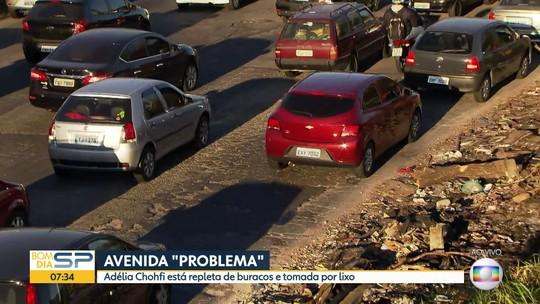 Avenida no limite de São Paulo e Santo André coleciona problemas