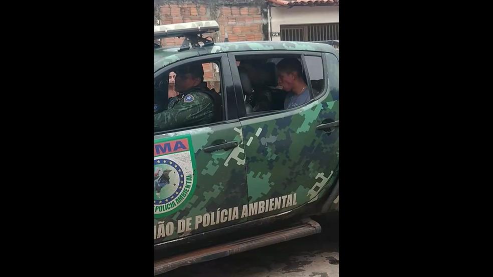 Tiago Aquino Ferreira Santos se encontra no presídio do Comando Geral da Polícia Militar em São Luís — Foto: Divulgação/Polícia