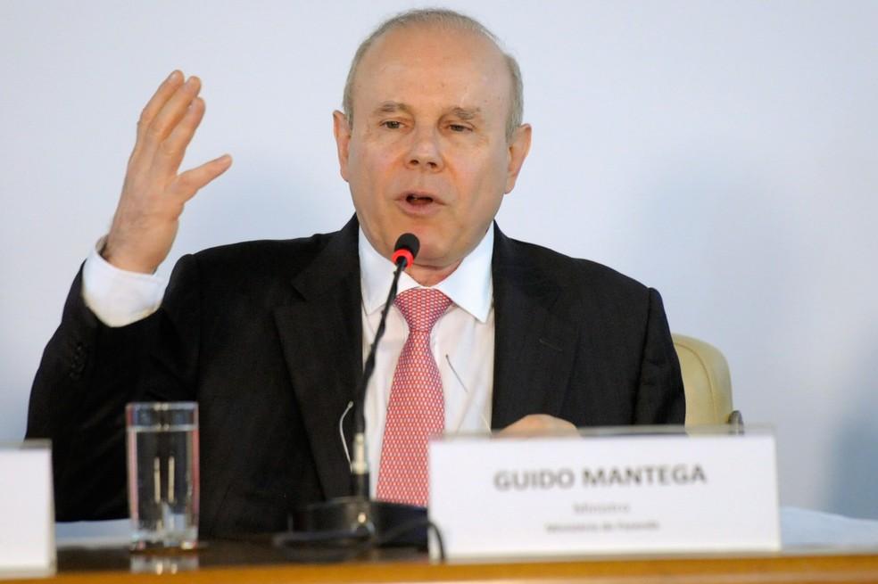 Imagem mostra o ex-ministro da Fazenda Guido Mantega (Foto: Edilson Rodrigues/Agência Senado)