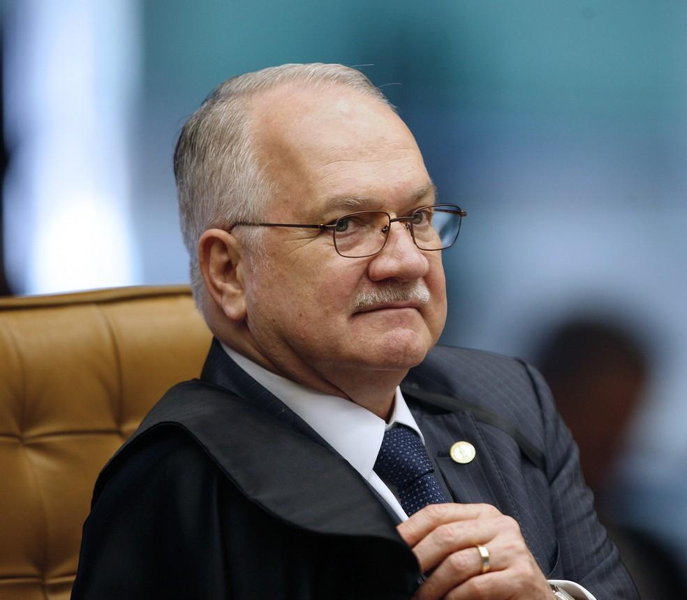 O ministro Edson Fachin durante sessão do Supremo Tribunal Federal (STF) na última semana de agosto (Foto: Rosinei Coutinho/SCO/STF)