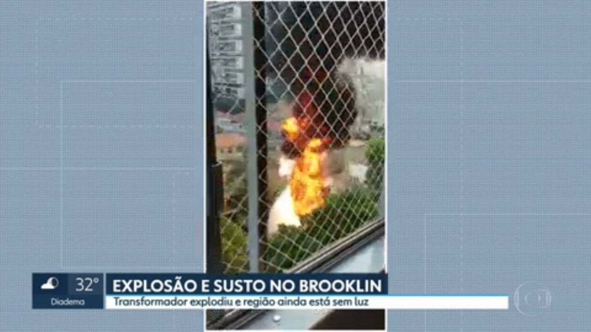 Explosão de transformador derrama óleo e deixa moradores sem luz na Zona Sul de SP