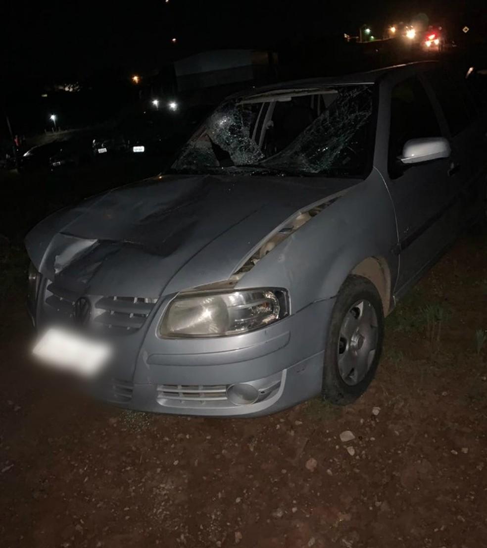 Motorista do veículo foi preso e segue detido na Casa de Detenção do município.  — Foto: Thiago Vieira/Conesul Acontece