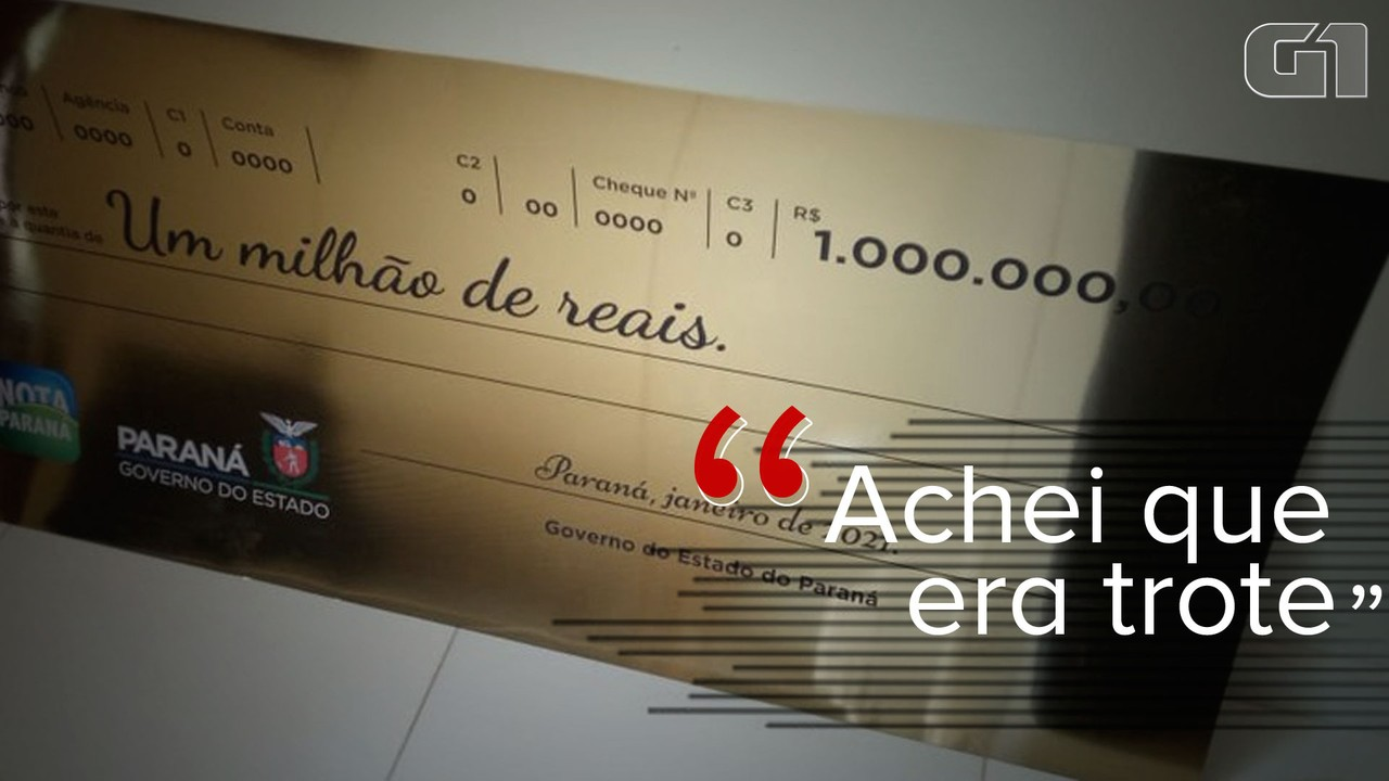 VÍDEO: 'Achei que era trote', diz ganhador de R$ 1 milhão do Nota Paraná