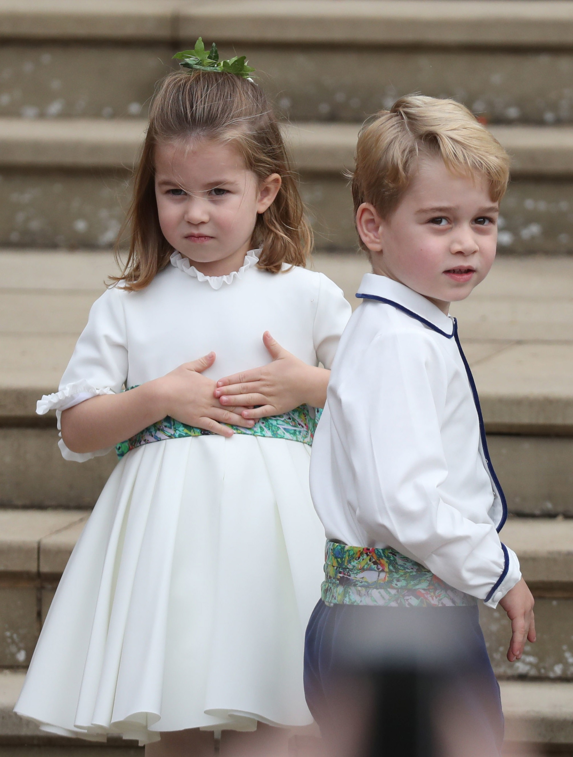 O Príncipe George e a Príncesa Charlotte, filhos do Príncipe William com a duquesa Kate Middleton (Foto: Getty Images)