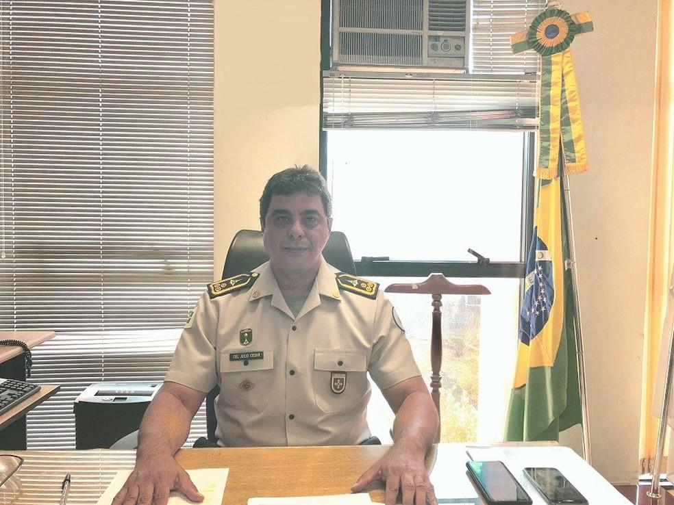 Coronel Júlio César Lima de Oliveira foi exonerado da chefia da Casa Militar do DF — Foto: Casa Militar do DF/Divulgação