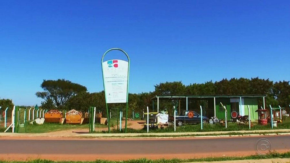 O Ecoponto mais próximo está na Pousada da Esperança, a cerca de sete quilômetros de distância do Parque São Geraldo — Foto: TV TEM/Reprodução