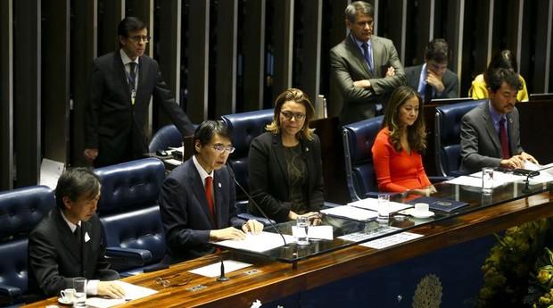 Senado realizou sessão para comemorar 111 anos da imigração japonesa  (Foto: Agência Brasil)