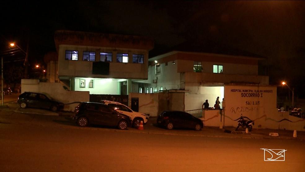 Após ser baleada Weslane Correa foi levada para o Hospital Municipal Djalma Marques em São Luís (Foto: Reprodução/TV Mirante)