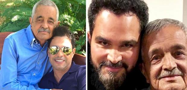 Zezé Di Camargo e Luciano com o pai, seu Francisco (Foto: Reprodução/Instagram)