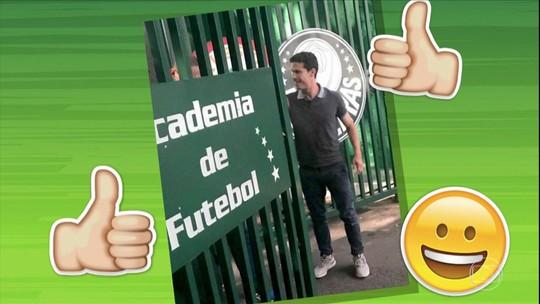 Hernanes vai ao CT do Palmeiras e agita torcedores nas redes sociais