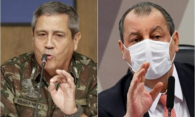 General Braga Netto e Omar Aziz
