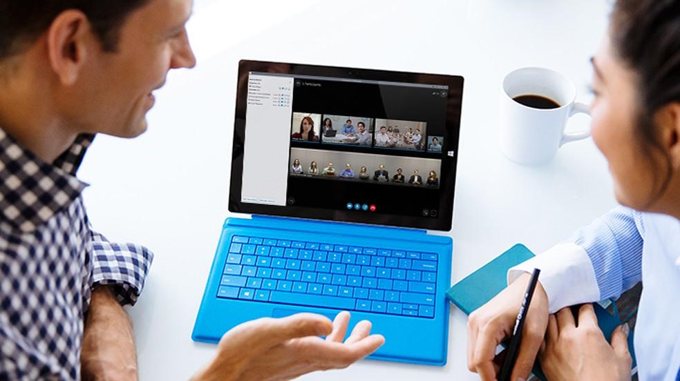Skype for Business é indicado para reuniões empresariais — Foto: Divulgação/Microsoft
