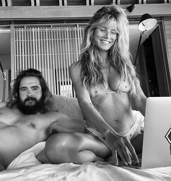 A modelo Heidi Klum com o marido (Foto: Instagram)