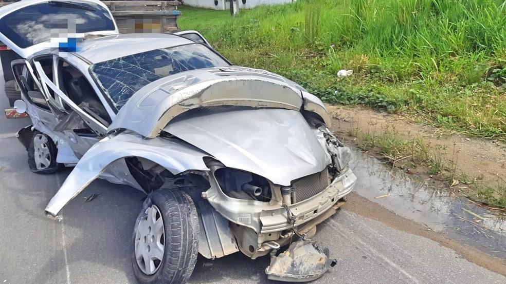 Acidente ocorreu no quilômetro 58 da BR-101, no Recife — Foto: Polícia Rodoviária Federal/Divulgação