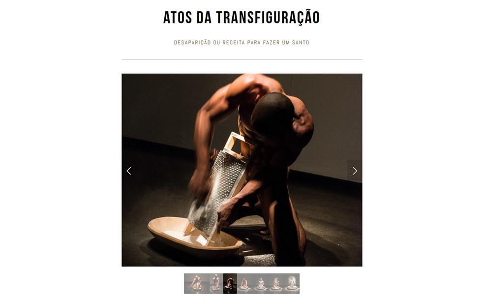 Fotos da performance 'Atos da transfiguração', do artista brasiliense Antônio Obá (Foto: Antônio Obá/Reprodução)