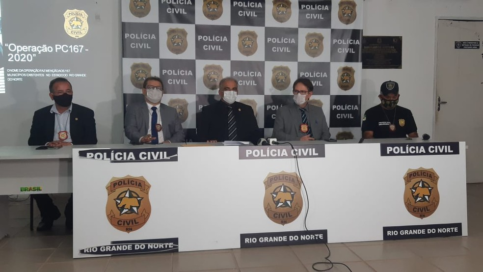 Operação da Polícia Civil aconteceu nesta quinta-feira (26) — Foto: Sérgio Henrique Santos/Inter TV Cabugi