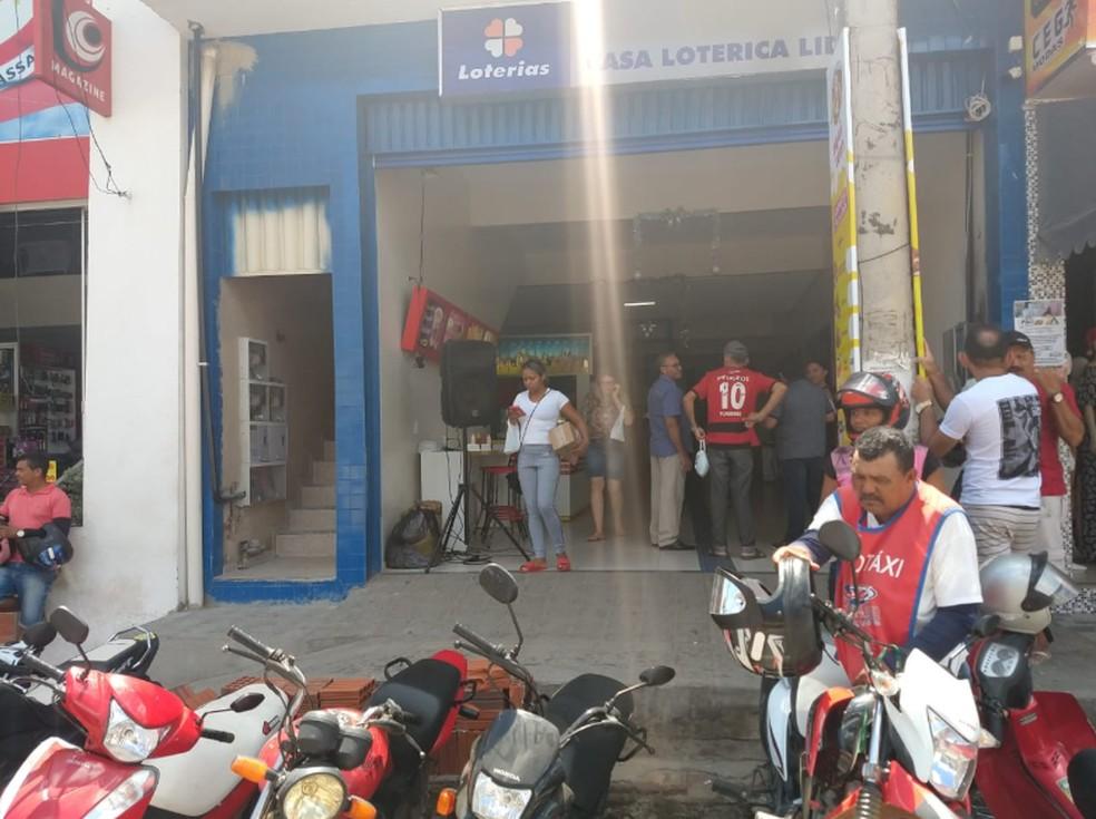 Casa Lotérica Líder em Várzea Alegre, na Região do Cariri do Estado. — Foto: Derval Menezes Caldas