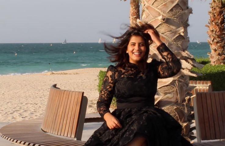 Ativista saudita Loujain al-Hathloul em foto de 2019 divulgada por sua página oficial no Facebook