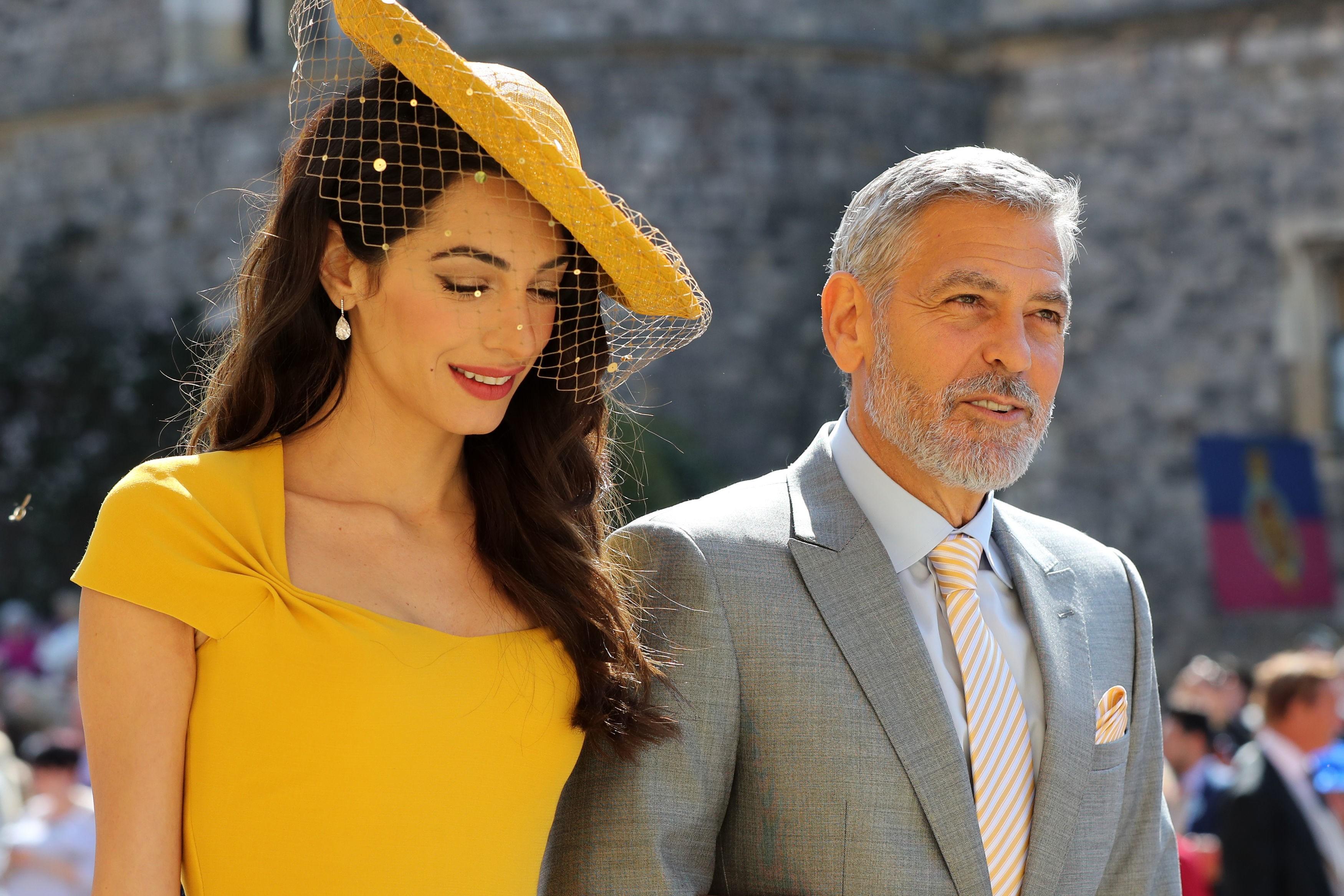 Amal Clooney e seu modelo da boda Real (Foto: Getty Images)